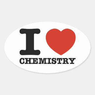 I love my Hot chemistry Oval Sticker