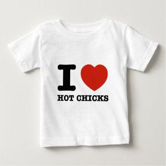 I love my Hot chicks Baby T-Shirt