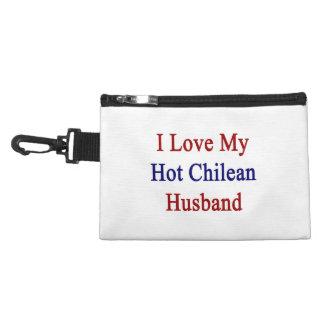 I Love My Hot Chilean Husband Accessories Bags