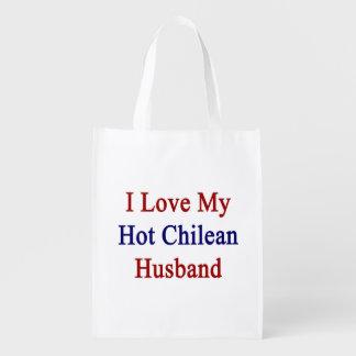 I Love My Hot Chilean Husband Market Tote