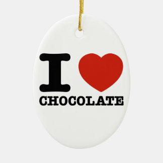 I love my Hot chocolate Ceramic Ornament