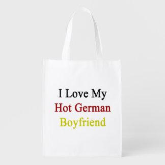I Love My Hot German Boyfriend Reusable Grocery Bag