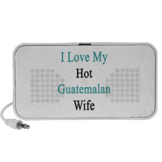 I Love My Hot Guatemalan Wife iPhone Speakers