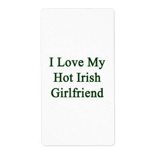 I Love My Hot Irish Girlfriend Personalized Shipping Label