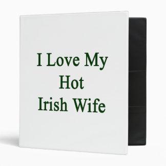 I Love My Hot Irish Wife Vinyl Binder