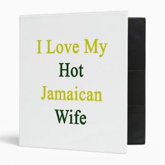 I Love My Hot Jamaican Wife Vinyl Binder