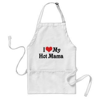 I Love My Hot Mama Adult Apron