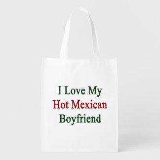 I Love My Hot Mexican Boyfriend Grocery Bag
