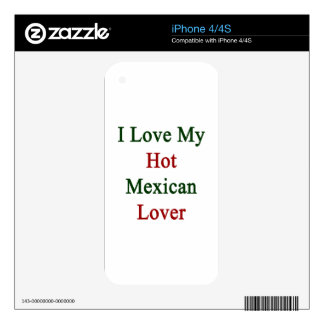 I Love My Hot Mexican Lover iPhone 4 Decal