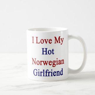 I Love My Hot Norwegian Girlfriend Coffee Mug