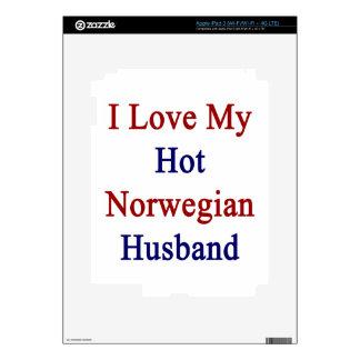 I Love My Hot Norwegian Husband Skin For iPad 3
