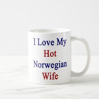 I Love My Hot Norwegian Wife Coffee Mug