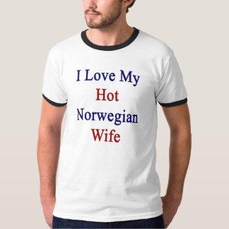 I Love My Hot Norwegian Wife T-Shirt