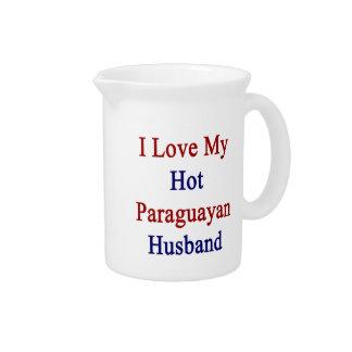 I Love My Hot Paraguayan Husband Pitcher