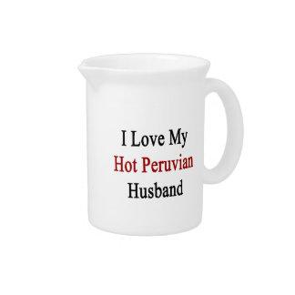 I Love My Hot Peruvian Husband Pitcher