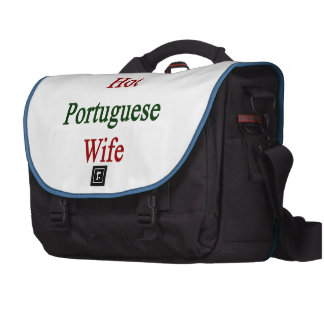 I Love My Hot Portuguese Wife Laptop Commuter Bag
