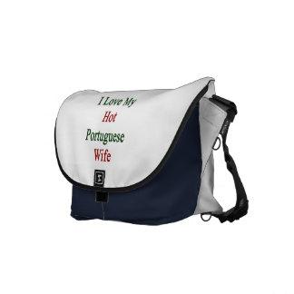 I Love My Hot Portuguese Wife Messenger Bag