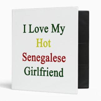I Love My Hot Senegalese Girlfriend Vinyl Binders