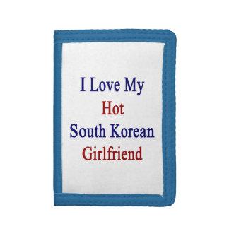 I Love My Hot South Korean Girlfriend Tri-fold Wallet