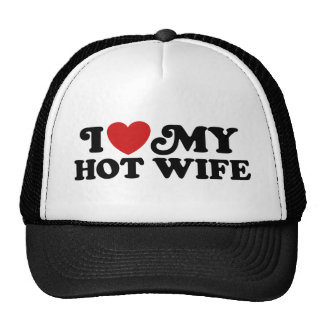 I Love My Hot Wife Mesh Hats