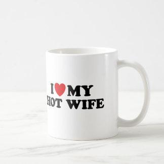 I Love My Hot Wife Mugs