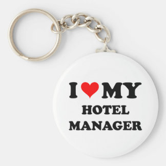 I Love My Hotel Manager Key Chain