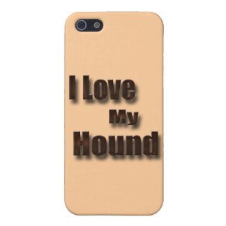 I Love My Hound Cover For iPhone SE/5/5s
