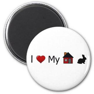 """I Love My House Rabbit"" Magnet"