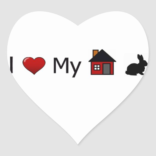 """I Love My House Rabbit"" Stickers"