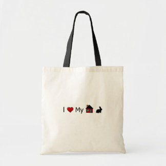 """I Love My House Rabbit"" Tote Bag"