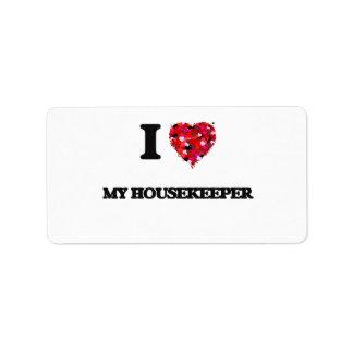 I Love My Housekeeper Address Label
