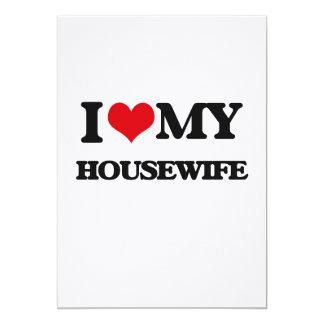 "I love my Housewife 5"" X 7"" Invitation Card"