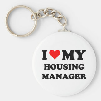 I Love My Housing Manager Keychain