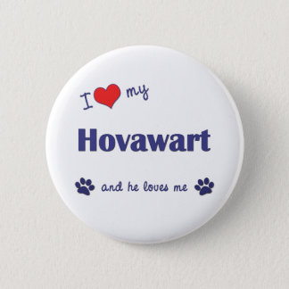 I Love My Hovawart (Male Dog) Button