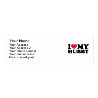 I love my hubby Double-Sided mini business cards (Pack of 20)