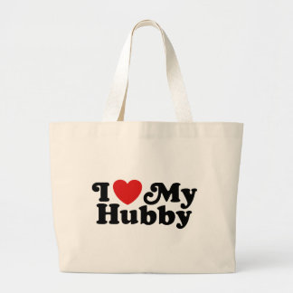 I Love My Hubby Canvas Bags