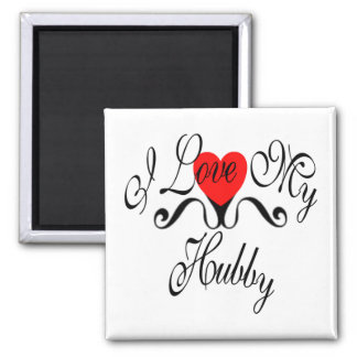 I Love My Hubby Magnet