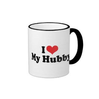 I Love My Hubby Ringer Coffee Mug