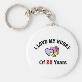 I love my hubby of 20 years keychain