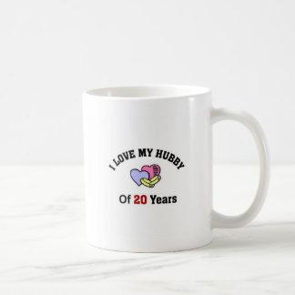 I love my hubby of 20 years classic white coffee mug