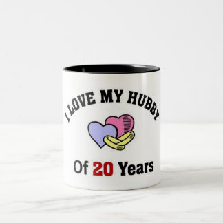 I love my hubby of 20 years Two-Tone coffee mug