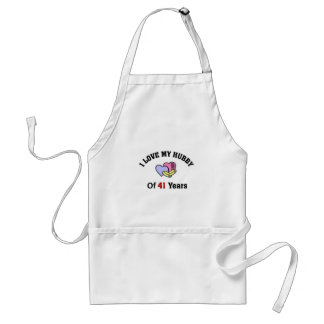 I love my Hubby of 41 years Adult Apron