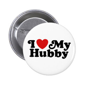 I Love My Hubby Pinback Button