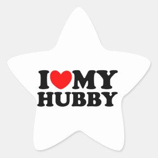 I Love My Hubby Star Sticker