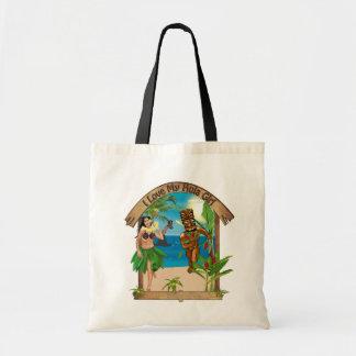 I Love My Hula Girl Tiki Bag