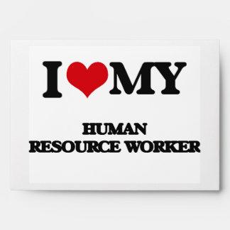 I love my Human Resource Worker Envelope