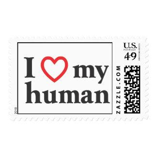 I Love My Human Stamp