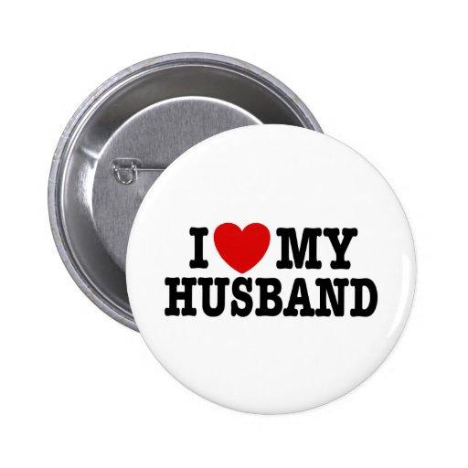 I Love My Husband 2 Inch Round Button