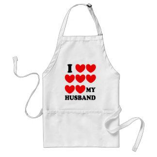 I Love My Husband Adult Apron