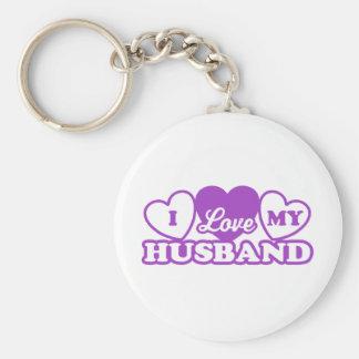 I Love My Husband Basic Round Button Keychain